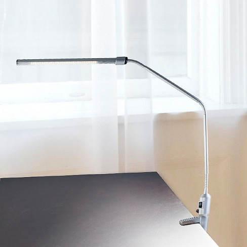 Modern Contemporary Led Clamp Desk Lamp Silver By Lavish Home