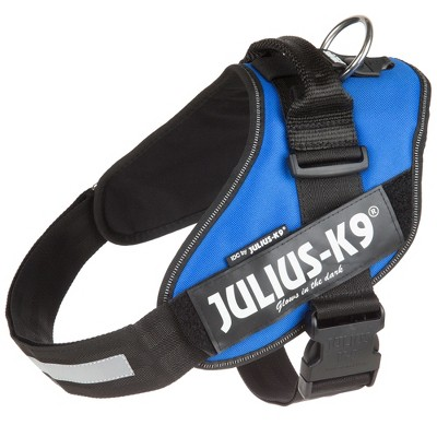 Julius K-9 16IDC-B-2 IDC Powerharness Reflective No Pull Dog Walking Vest Harness for Medium and Large Dogs from 61.8 to 88 Pounds, Size 2, Blue