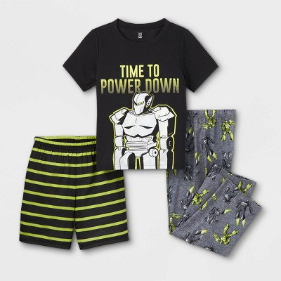 Boys' 3pc Robot Pajama Set - Just One You® made by carter's Yellow/Black
