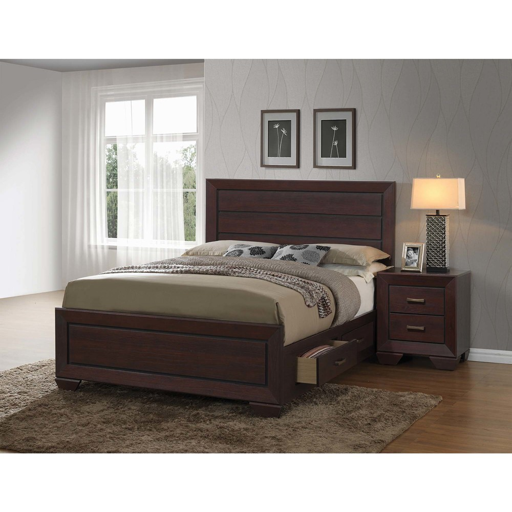 Eastern King Hayden Storage Bed Dark Cocoa - Private Reserve, Brown