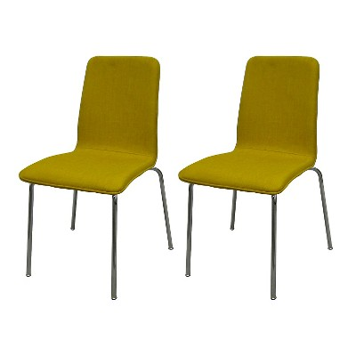 Upholstered Stacking Chair (Set Of 2)   Vintage Yellow   Room Essentials™