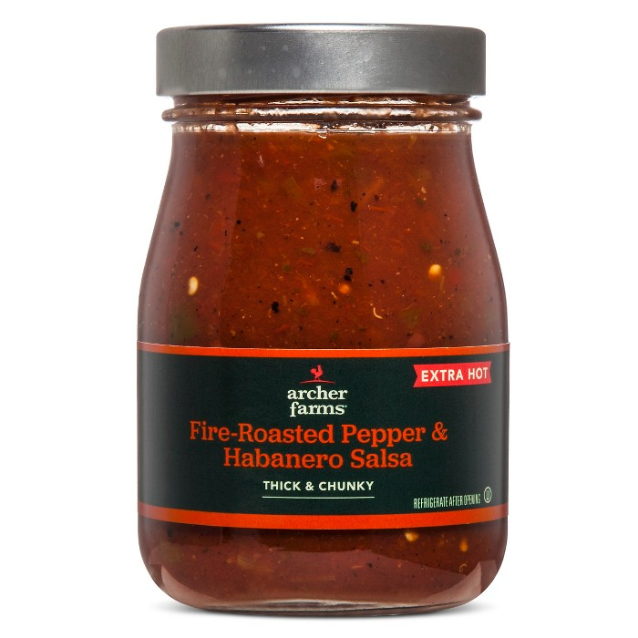 Fire-Roasted Pepper & Habanero Salsa Extra Hot 16oz - Archer Farms™ - image 1 of 2