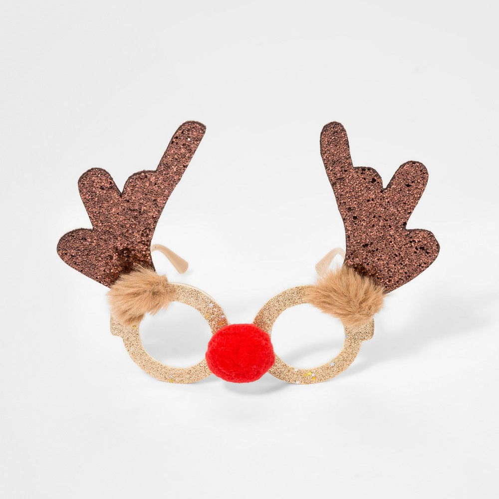 Girls' Rudolph Glasses - Cat & Jack Gold One Size