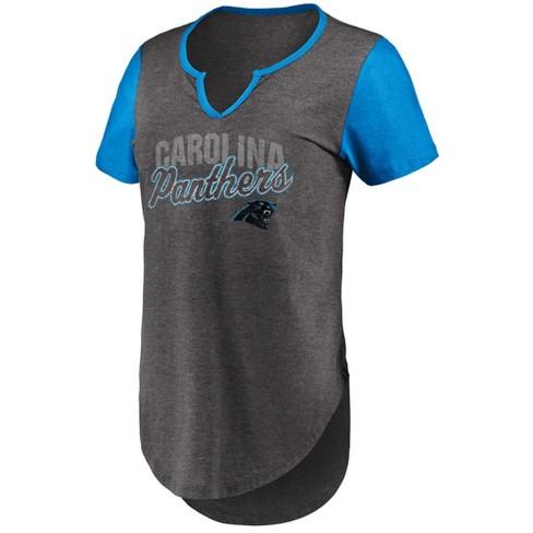 1932a53cd NFL Carolina Panthers Women s Smart Decision Notch Neck T-Shirt   Target