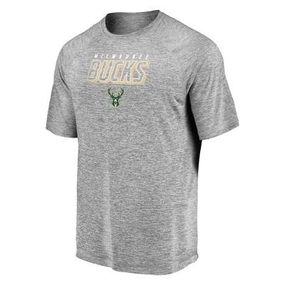 NBA Milwaukee Bucks Men's Athleisure Tactical Striated T-Shirt