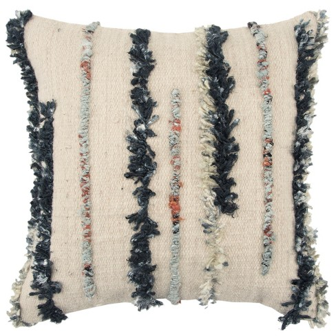Stripe Decorative Filled Oversize Square Throw Pillow - Rizzy Home - image 1 of 3
