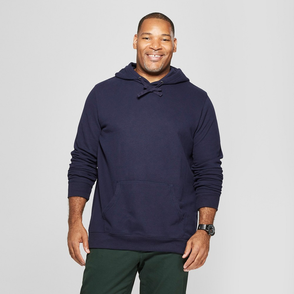 Men's Tall Regular Fit Fleece Hooded Sweatshirt - Goodfellow & Co Xavier Navy LT