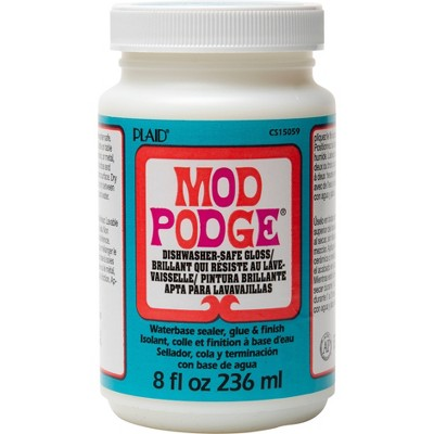 Mod Podge 8oz Craft Glue - Dishwasher Safe Gloss