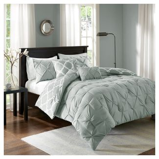 Gray Hayden Solid Reversible Comforter Set (Full/Queen) 5pc