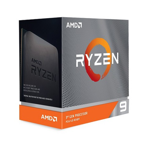 AMD Ryzen 9 3900XT Unlocked Desktop Processor without cooler - 12 cores & 24 threads - 3.8 GHz- 4.7 GHz CPU Speed - PCIe 4.0 Ready - image 1 of 2