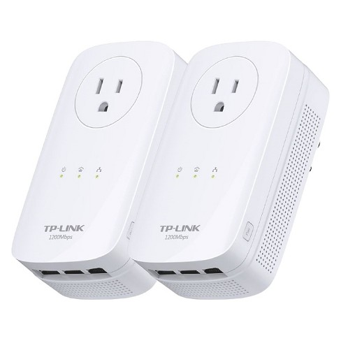 TP-LINK AV1200 3 Port Gigabit Pass-through Powerline Kit - White (TL-PA8030P KIT) - image 1 of 3