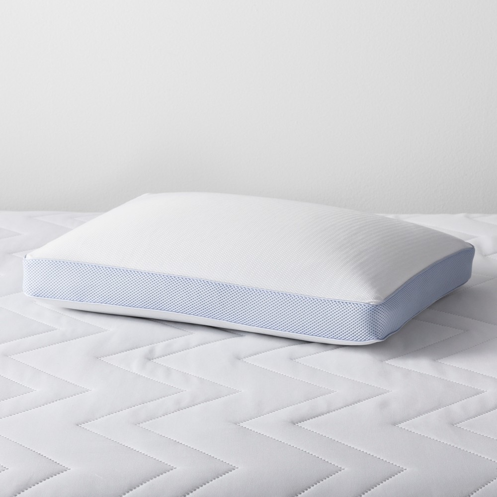 Cool Touch Memory Foam Bed Pillow (King) - Made By Design, Blue White