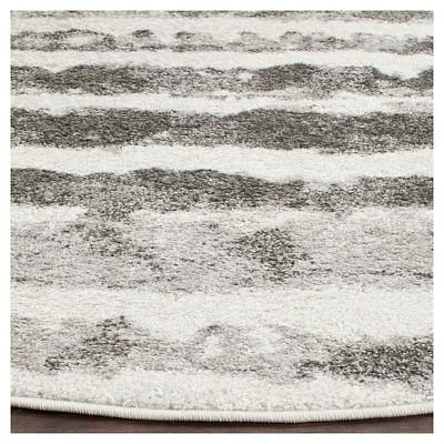 Adirondack Rug - Ivory/Charcoal - (6'x6' Round) - Safavieh , White