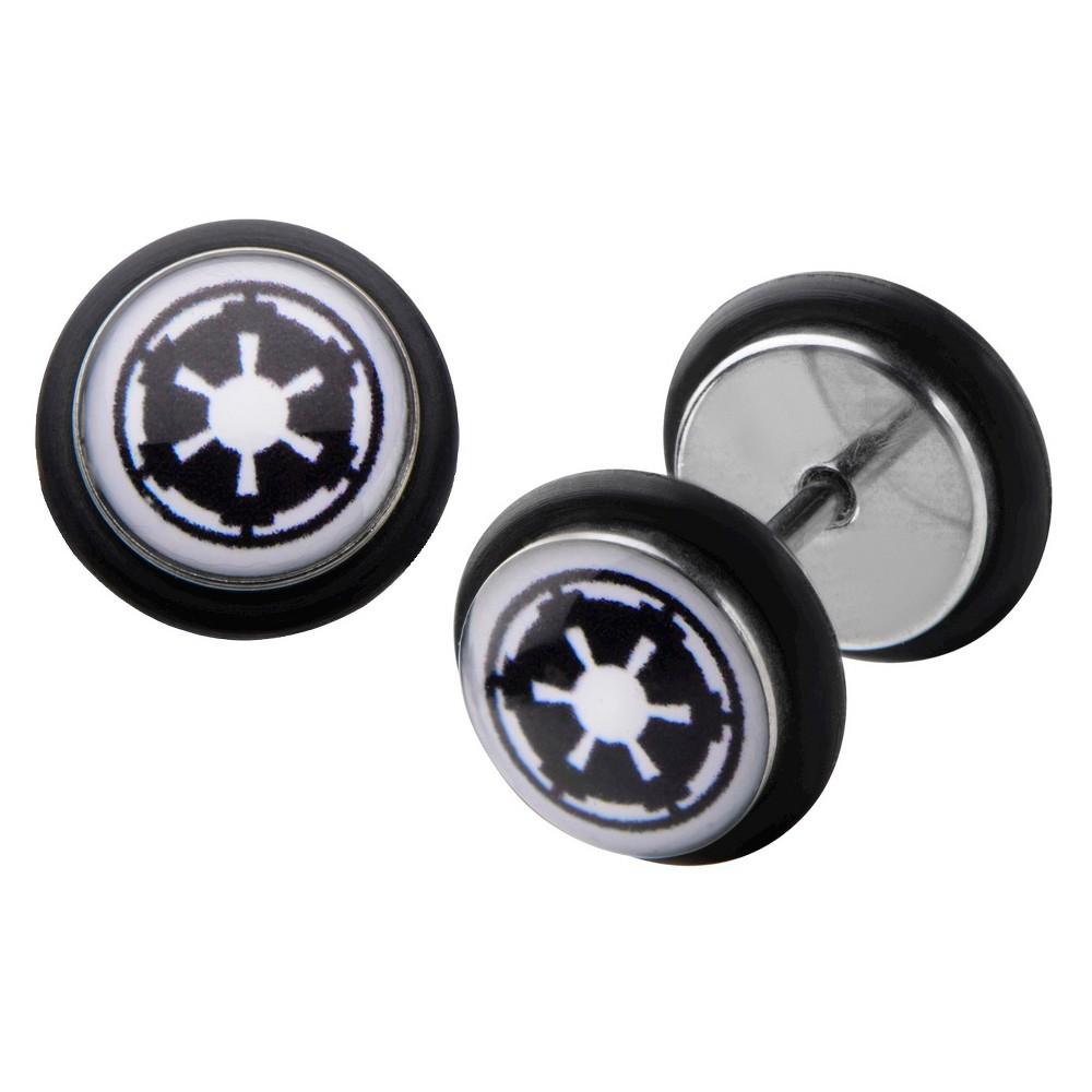 Star Wars Imperial Symbol Stainless Steel Screw Back Earrings