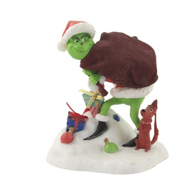 """Christmas 5.5"""" Grinch With Max Figurine Fabriche Dr Seuss  -  Decorative Figurines"""