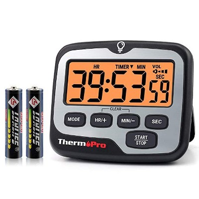 ThermoPro TM01 Digital Timer with Countdown Touchable Backlit