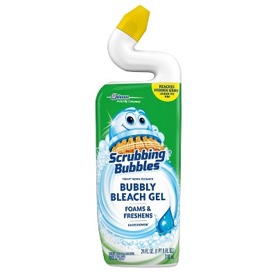 Scrubbing Bubbles Bubbly Bleach Gel Toilet Bowl Cleaner - Rainshower - 24 fl oz