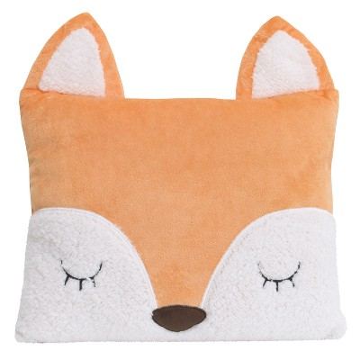 Little Love by NoJo Throw Pillow - Fox - Orange