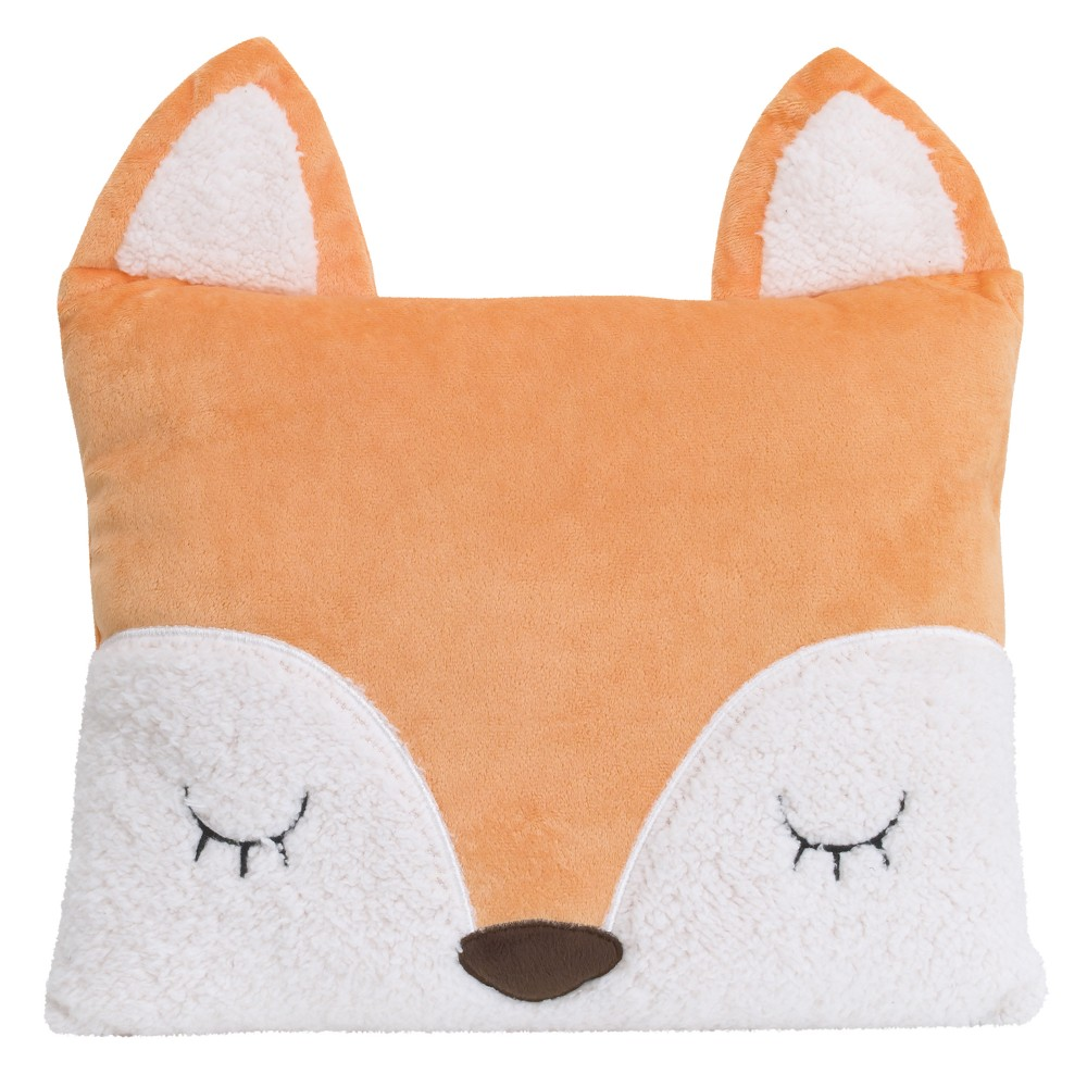 Image of Little Love by NoJo Throw Pillow - Fox - Orange
