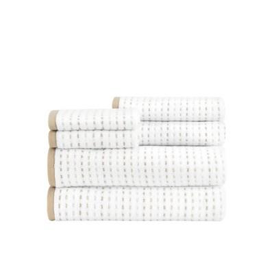 6pc Parsnip Bath Towel Set - CARO HOME