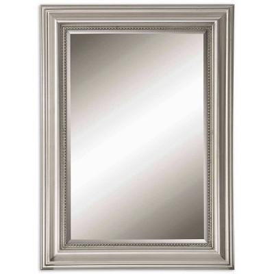 Rectangle Stuart Beaded Decorative Wall Mirror Silver - Uttermost