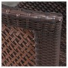 Neal 3-Piece Wicker Patio Bistro Set - Brown - Christopher Knight Home - image 4 of 4