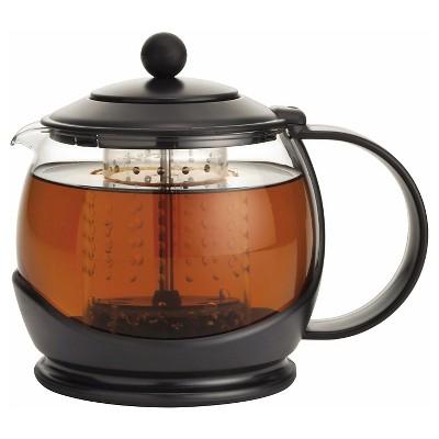 Bonjour Tea  Prosperity  Borosilicate Glass Teapot with Plastic Frame Black
