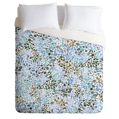 King Ninola Design Speckled Duvet Set Blue - Deny Designs