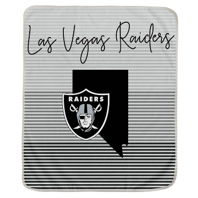 NFL Las Vegas Raiders Ultra Fleece State Stripe Blanket