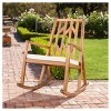 Nuna Acacia Wood Rocking Chair With Cushion - White - Christopher Knight Home - image 2 of 4