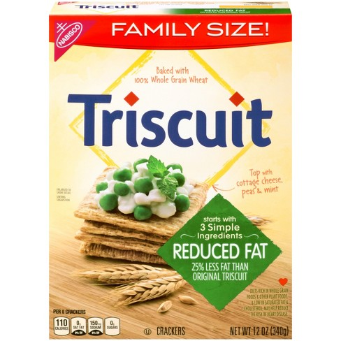 Triscuit Reduced Fat Crackers - Family Size - 12oz - image 1 of 4