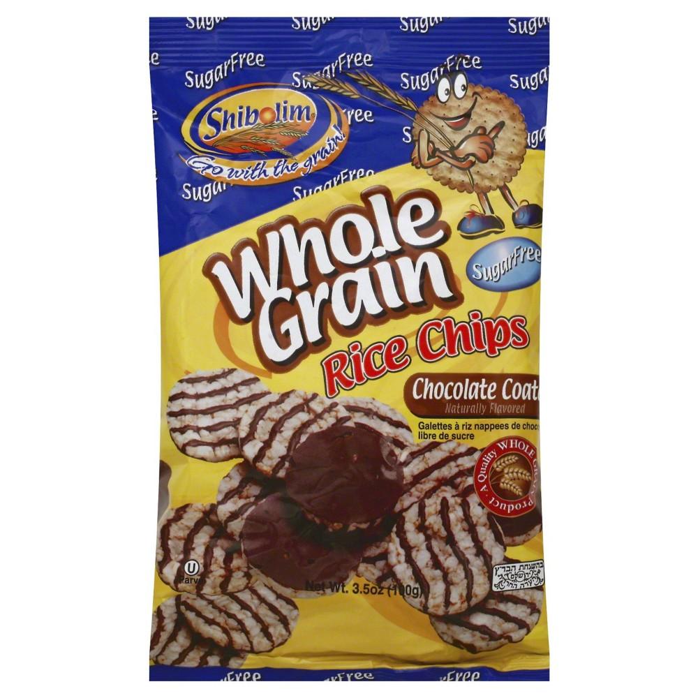 Shibolim Whole Grain Chocolate Coat Rice Chips - 3.5 0z