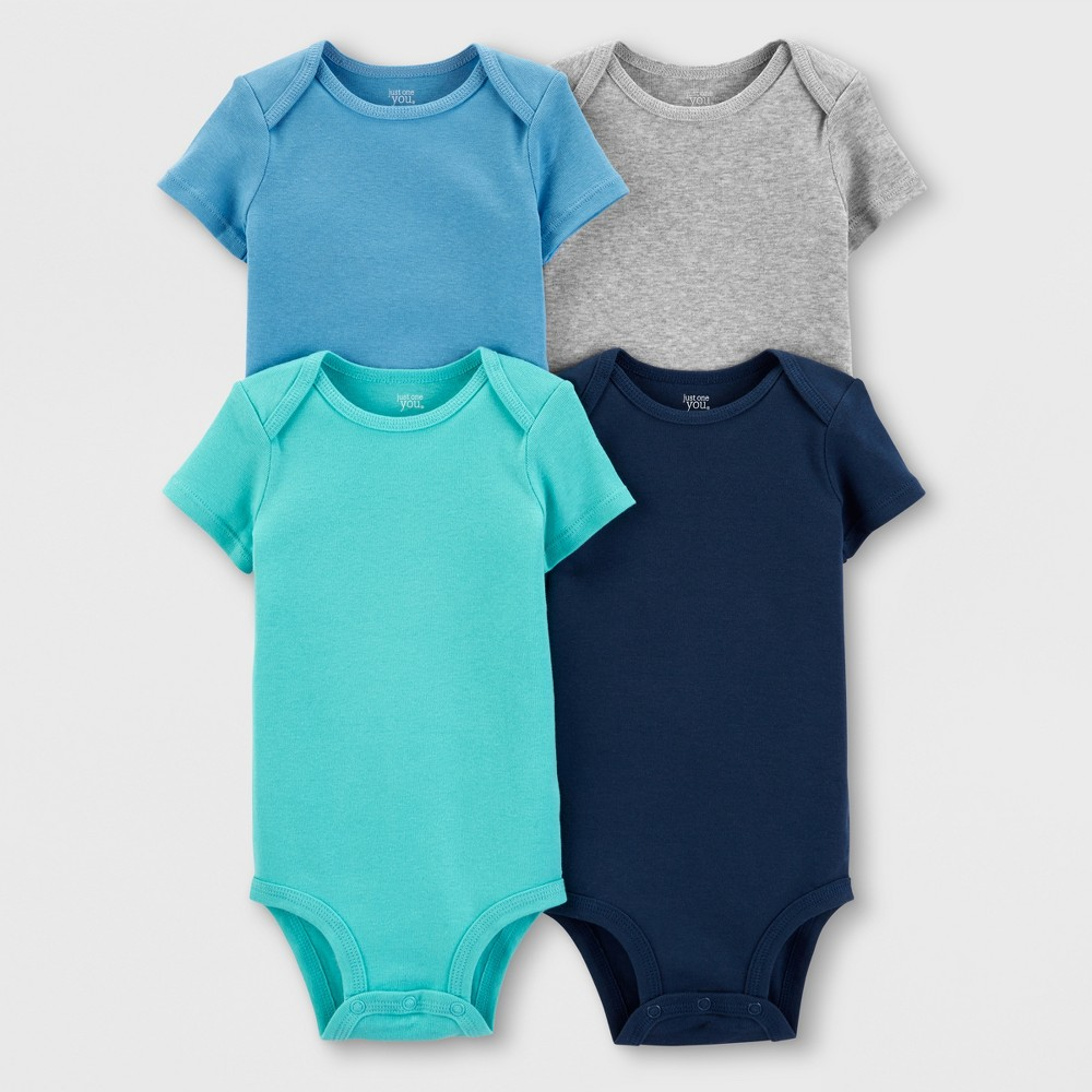 Baby Boys' 4pk Bodysuits - Just One You made by carter's 18M, Blue