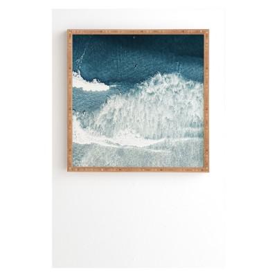 20  x 20  Ingrid Beddoes Ocean Surfers Framed Wall Art Blue - society6