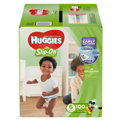 Huggies Little Movers Slip-On Diaper Pants - Size 6 (100ct)