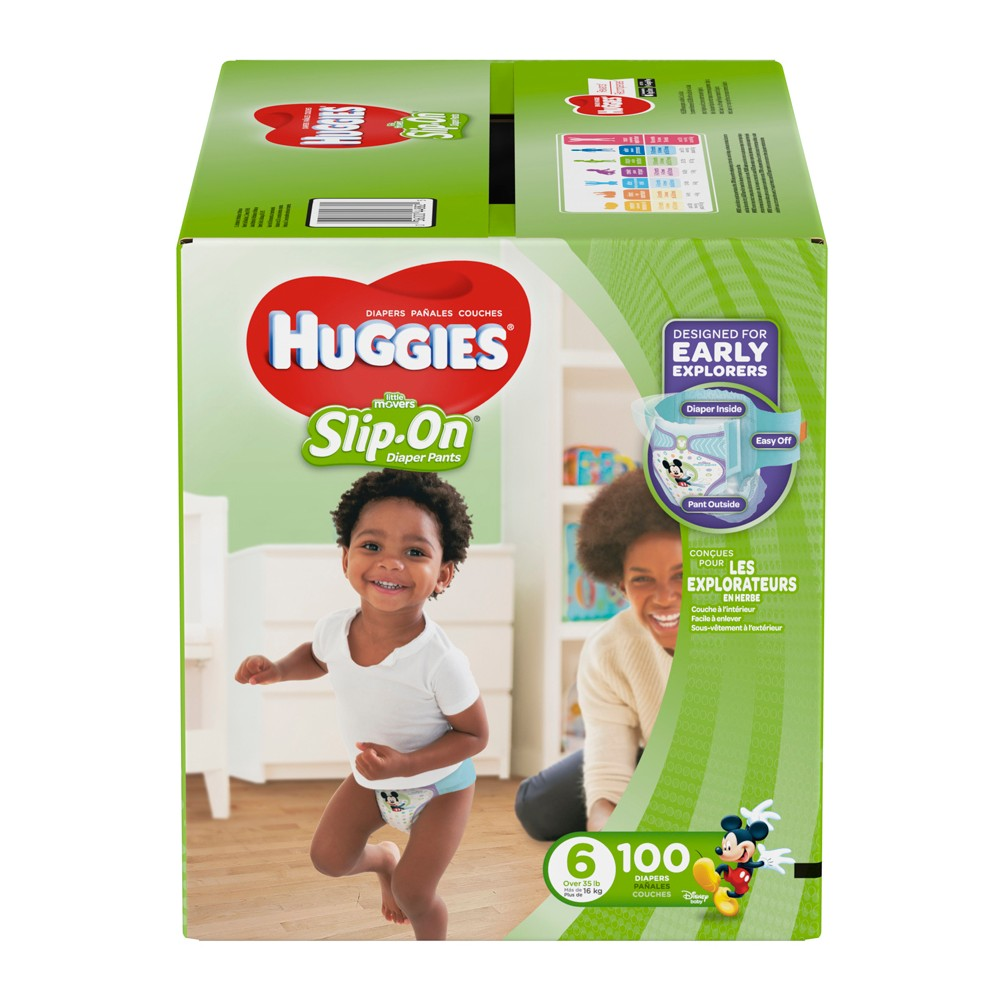 Huggies Little Movers Slip-On Diaper Pants - Size 6 (100ct), White