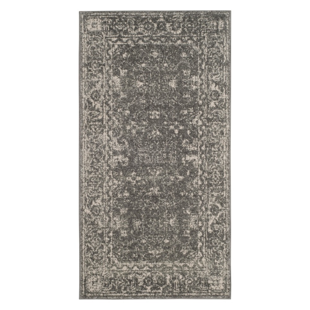 22X4 Medallion Accent Rug Gray/Ivory - Safavieh Reviews