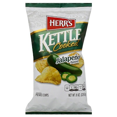 Herr's Jalapeno Flavored Kettle Cooked Potato Chips - 8oz