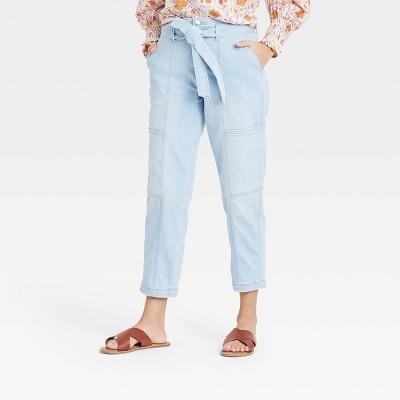 Women's High-Rise Taper Jeans - Universal Thread™ Light Blue