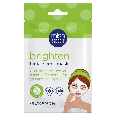 Miss Spa Brighten Even Skin Tone Facial Sheet Mask - 1ct - image 1 of 2