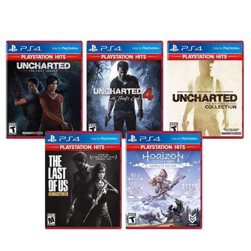 Horizon Zero Dawn / Last of Us / Uncharted 5 Video Game Pack - PlayStation 4 - image 1 of 4