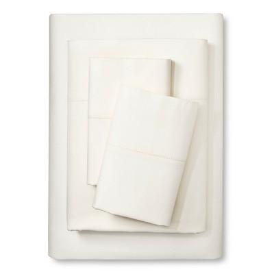 Elite Home Hemstitch 400TC Solid Sheet Set - Ivory (Full)