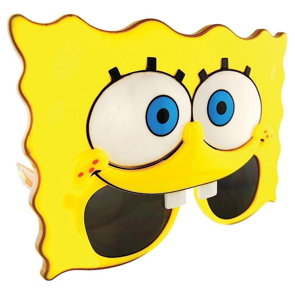 Sunstache Spongebob Glasses, Adult Unisex, Yellow