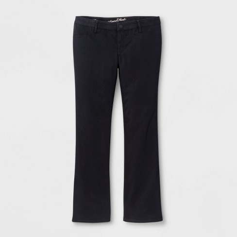 Women's Adaptive Bootcut Jeans - Universal Thread™ Black Wash - image 1 of 3