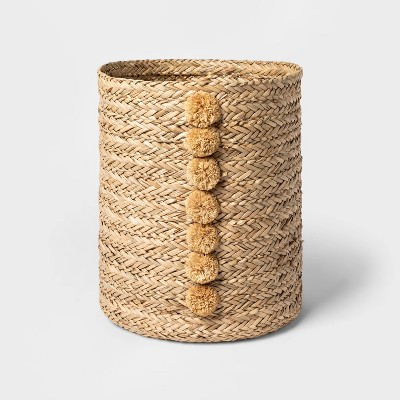 Braided Seagrass Round Basket Natural - Opalhouse™