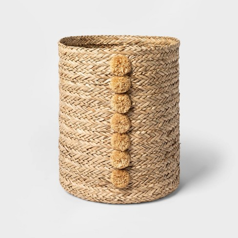 Braided Seagrass Round Basket Natural - Opalhouse™ - image 1 of 3