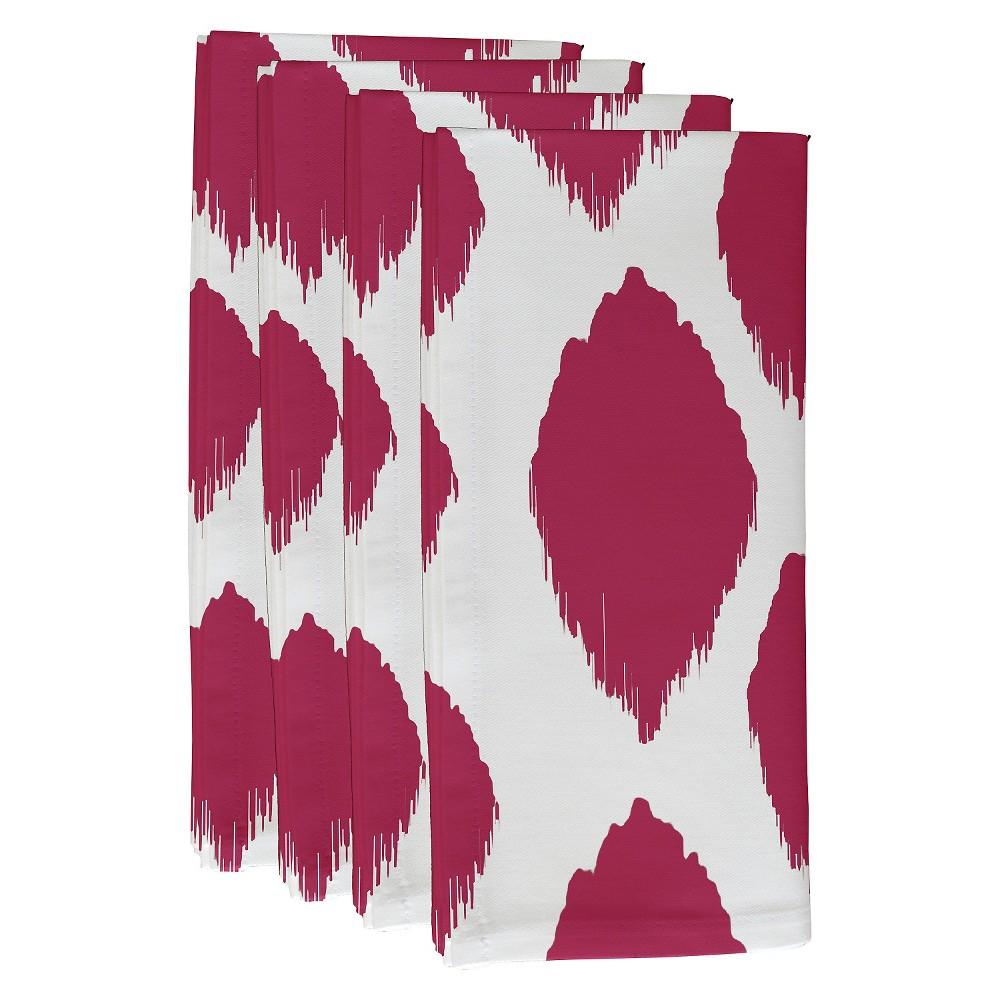 "Image of ""Fuchsia (Pink) Abstract Throw Napkin Set (19""""X19"""") - E By Design"""