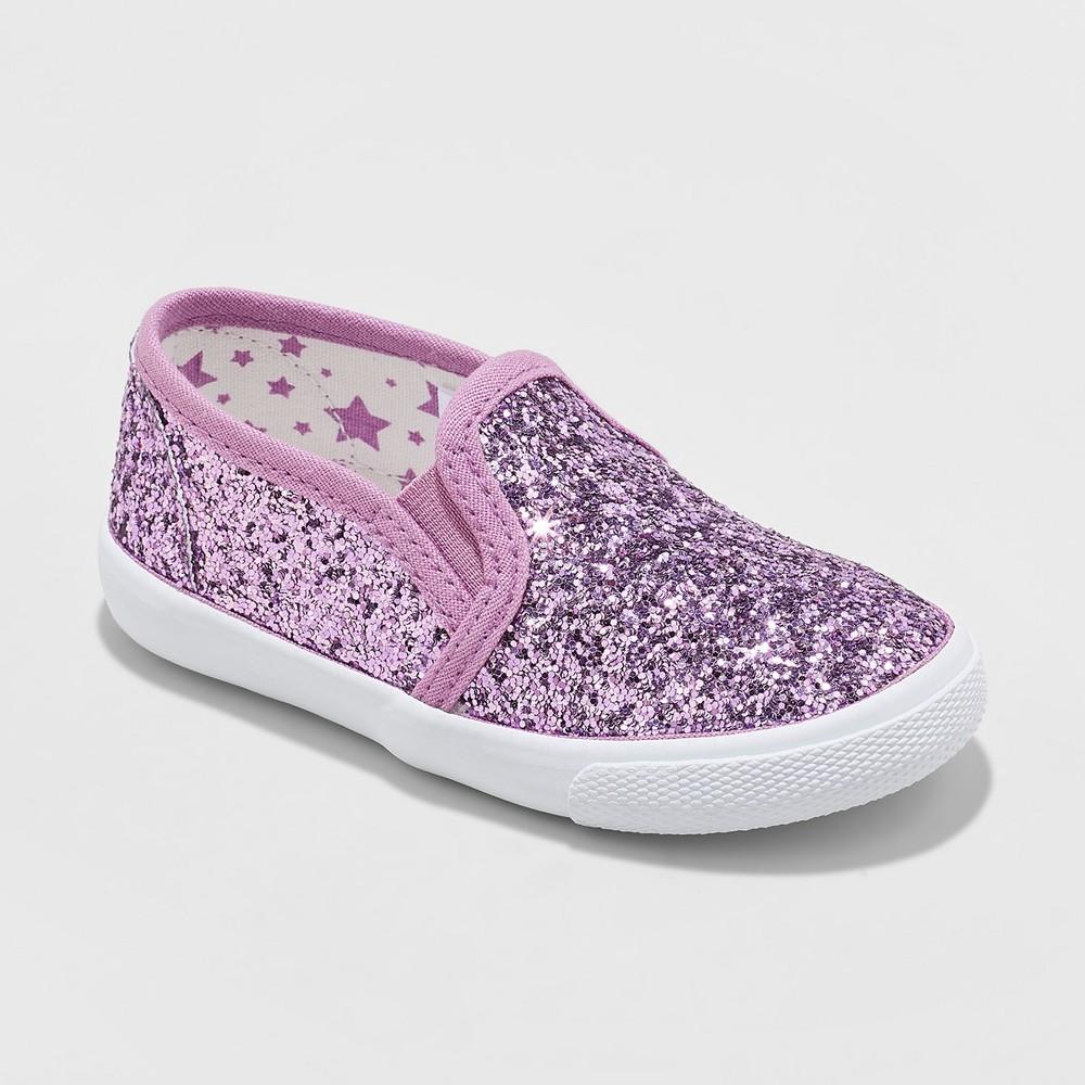 6283990e Toddler Girls Madigan Glitter Slip On Sneakers Cat Jack Purple 10