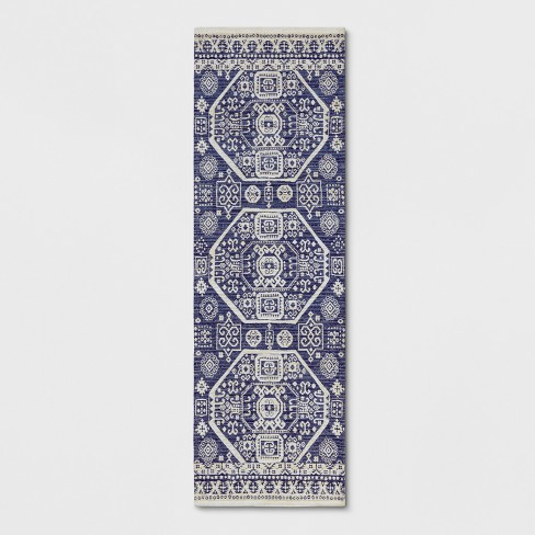 Blue Jacquard Woven Rug - Threshold™ - image 1 of 3