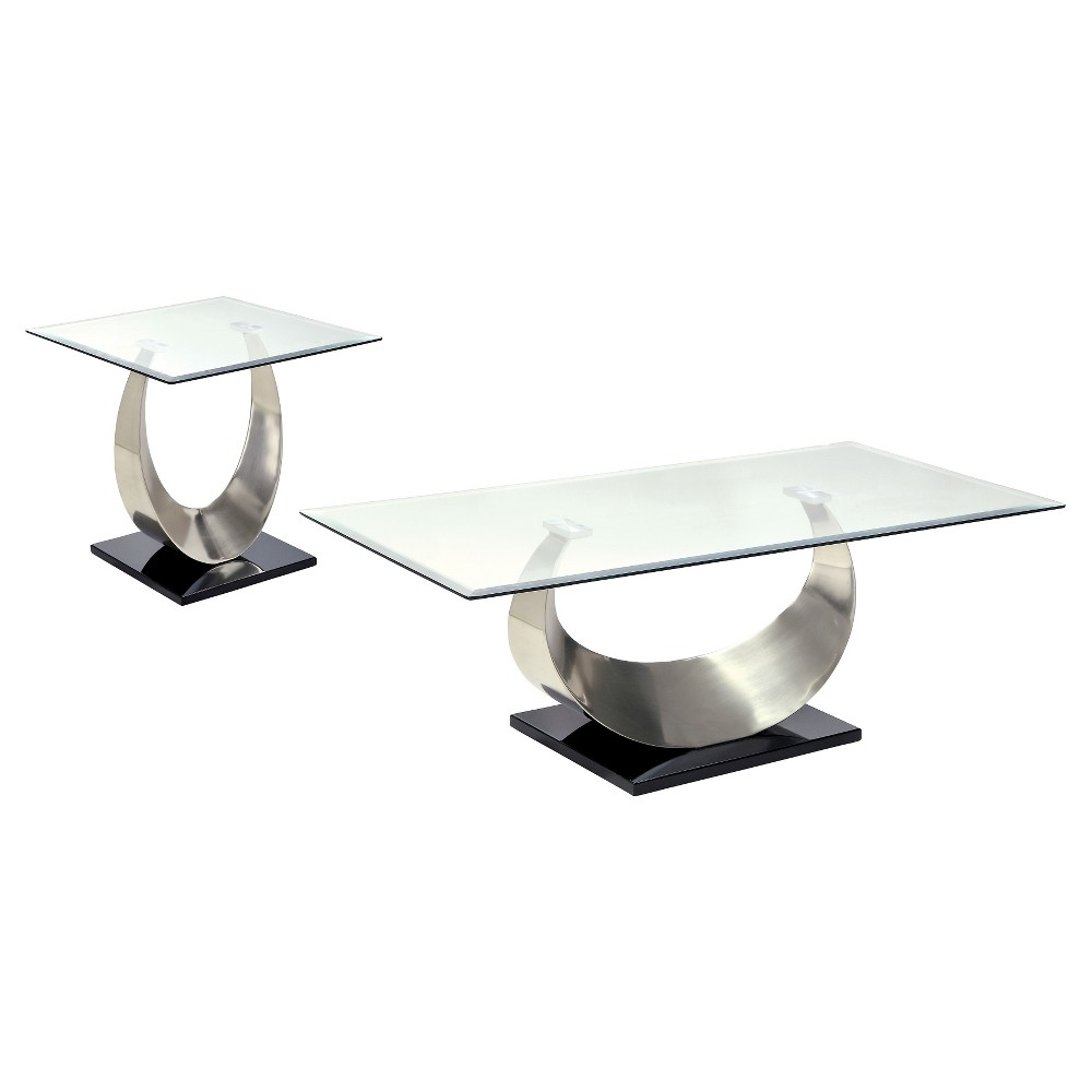 Image of 2pc Juliana Occasional Table Set Satin Gray - ioHOMES